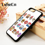 LvheCn 5 5S SE 6 6S Phone Cover Cases For IPhone 7 8 PLUS X Xs Max XR Soft Silicone Rubber Funny Pugs As Food Art