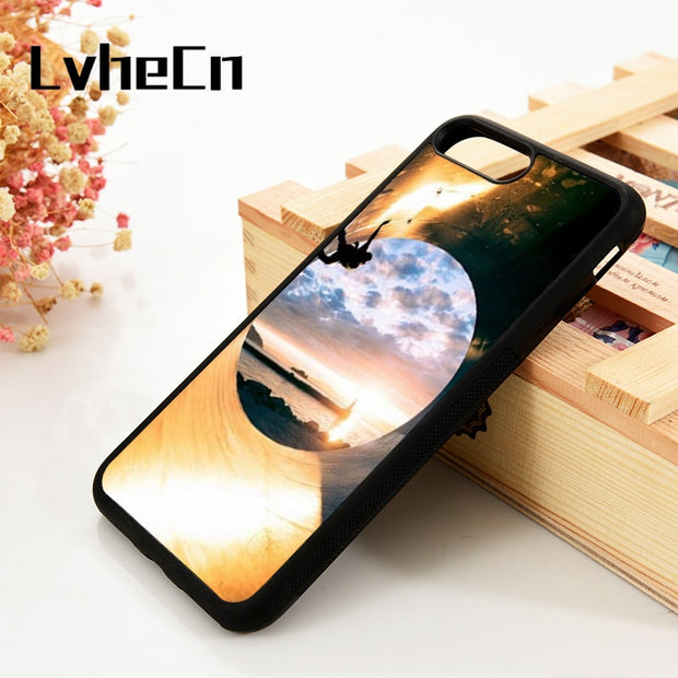 LvheCn 5 5S SE 6 6S Phone Cover Cases For IPhone 7 8 PLUS X Xs Max XR Soft Silicone Rubber Skateboarding Extreme Sports