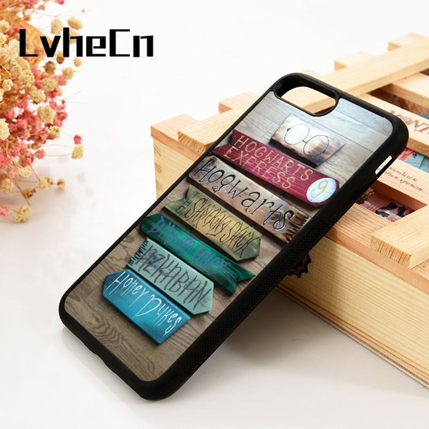 LvheCn 5 5S SE 6 6S Phone Cover Cases For IPhone 7 8 PLUS X Xs Max XR Soft Silicone Rubber HARRY POTTER HOGWARTS MAGIC QUOTES