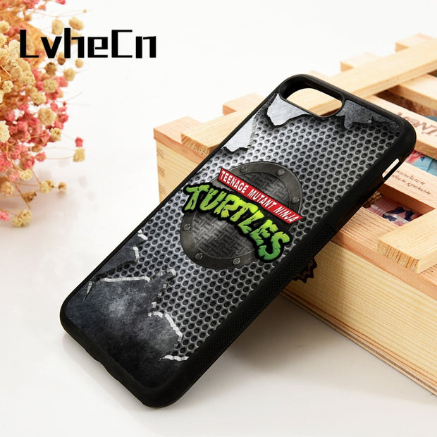 LvheCn 5 5S SE 6 6S Phone Cover Cases For IPhone 7 8 PLUS X Xs Max XR Soft Silicone Rubber TMNT Teenage Mutant Ninja Turtles