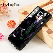 LvheCn S3 S4 S5 Phone Cases For Samsung Galaxy S6 S7 S8 S9 Egde Plus Note 4 5 8 9 Marvel Hero Batman The Dark Knight Rises Joker