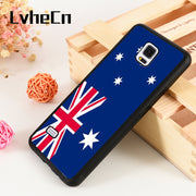 LvheCn S3 S4 S5 Phone Cover Case For Samsung Galaxy S6 S7 S8 S9 Egde Plus Note 4 5 8 9 Australian Flag Aussie Oz Blue White Red
