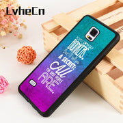 LvheCn S3 S4 S5 Phone Cover Case For Samsung Galaxy S6 S7 S8 S9 Egde Plus Note 4 5 8 9 Silicon Rubber ALICE BONKERS QUOTE COLOUR