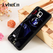 LvheCn S3 S4 S5 Phone Cover Case For Samsung Galaxy S6 S7 S8 S9 Egde Plus Note 4 5 8 9 Silicon Star Wars Darth Vader Reflections