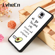 LvheCn S3 S4 S5 Phone Cover Case For Samsung Galaxy S6 S7 S8 S9 Egde Plus Note 4 5 8 9 Soft Silicon Delicious Avocado Fruit Food