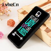 LvheCn S3 S4 S5 Phone Cover Cases For Samsung Galaxy S6 S7 S8 S9 Egde Plus Note 4 5 8 9 Cute Funny Gym Fitness Quote Pattern