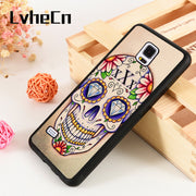 LvheCn S3 S4 S5 Phone Cover Cases For Samsung Galaxy S6 S7 S8 S9 Egde Plus Note 4 5 8 9 Sugar Mexican Skull Tattoo Protective