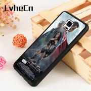 LvheCn S3 S4 S5 Phone Cover Cases For Samsung Galaxy S6 S7 S8 S9 Egde Plus Note 4 5 8 9 Silicone Batman Vs Superman Wonder Woman