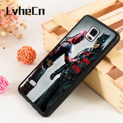 LvheCn S3 S4 S5 Phone Cover Cases For Samsung Galaxy S6 S7 S8 S9 Egde Plus Note 4 5 8 9 Marvel DC Deadpool Bruce Wayne Is Batman