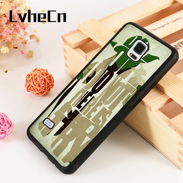 LvheCn S3 S4 S5 Phone Cover Cases For Samsung Galaxy S6 S7 S8 S9 Egde Plus Note 4 5 8 9 Star Wars Yoda Do Or Do Not No Try