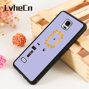 LvheCn S3 S4 S5 Phone Cover Cases For Samsung Galaxy S6 S7 S8 S9 Egde Plus Note 4 5 8 9 Soft Silicone Rubber FRIENDS TV SHOW