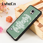 LvheCn S3 S4 S5 Phone Cover Cases For Samsung Galaxy S6 S7 S8 S9 Egde Plus Note 4 5 8 9 Strength And Growth Gym Family Life