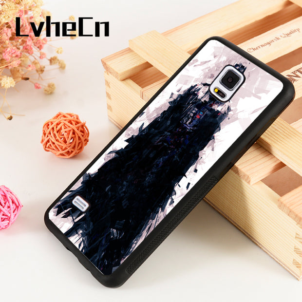 LvheCn S3 S4 S5 Phone Cover Cases For Samsung Galaxy S6 S7 S8 S9 Egde Plus Note 4 5 8 9 Star Wars Force AwakensDarth Vader Art