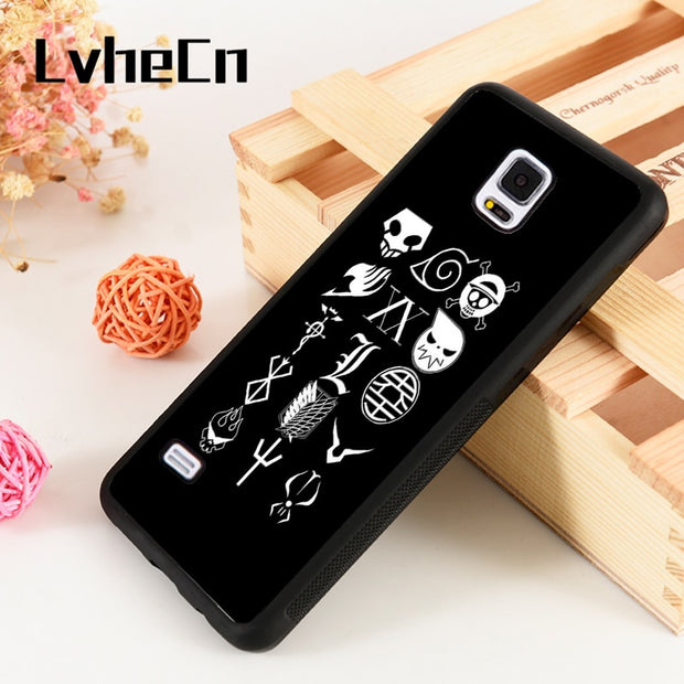 LvheCn S3 S4 S5 Phone Cover Cases For Samsung Galaxy S6 S7 S8 S9 Egde Plus Note 4 5 8 9 Silicone All Character Anime Manga Logo