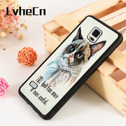 LvheCn S3 S4 S5 Phone Cover Cases For Samsung Galaxy S6 S7 S8 S9 Egde Plus Note 4 5 8 9 Soft Silicone Rubber ANGRY CAT QUOTE