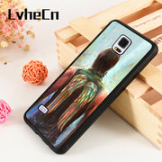 LvheCn S3 S4 S5 Phone Cover Cases For Samsung Galaxy S6 S7 S8 S9 Egde Plus Note 4 5 8 9 The Walking Dead Daryl Dixon Wings