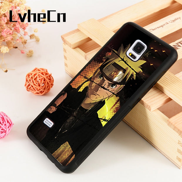 LvheCn S3 S4 S5 Phone Cover Cases For Samsung Galaxy S6 S7 S8 S9 Egde Plus Note 4 5 8 9 Anime Manga Naruto Shippuden Ninja Magic
