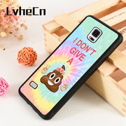 LvheCn S3 S4 S5 Phone Cover Cases For Samsung Galaxy S6 S7 S8 S9 Egde Plus Note 4 5 8 9 Silicone Funny Emoji Poop Flower Crown