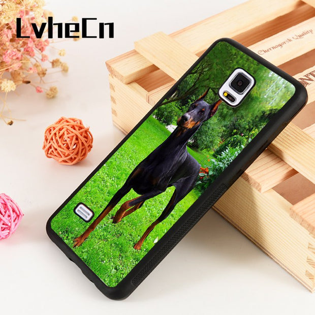 LvheCn S3 S4 S5 Phone Cover Cases For Samsung Galaxy S6 S7 S8 S9 Egde Plus Note 4 5 8 9 Soft Silicone Rubber STUNNING DOBERMAN