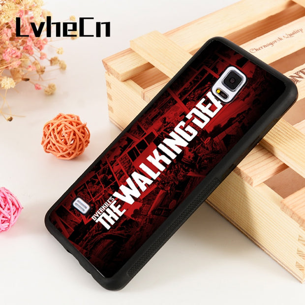 LvheCn S3 S4 S5 Phone Cover Cases For Samsung Galaxy S6 S7 S8 S9 Egde Plus Note 4 5 8 9 The Walking Dead Season 7 Rick Daryl