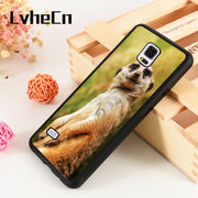 LvheCn S3 S4 S5 Phone Cover Cases For Samsung Galaxy S6 S7 S8 S9 Egde Plus Note 4 5 8 9 Soft Silicone Rubber MEERKAT SITTING