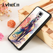 LvheCn S3 S4 S5 Phone Cover Cases For Samsung Galaxy S6 S7 S8 S9 Egde Plus Note 4 5 8 9 Beautiful Colourful Horse Painting