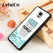 LvheCn S3 S4 S5 Phone Cover Cases For Samsung Galaxy S6 S7 S8 S9 Egde Plus Note 4 5 8 9 Silicone Rubber Blue LILO & STITCH QUOTE