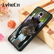 LvheCn S3 S4 S5 Phone Cover Cases For Samsung Galaxy S6 S7 S8 S9 Egde Plus Note 4 5 8 9 Soft Silicone Rubber Black Panther