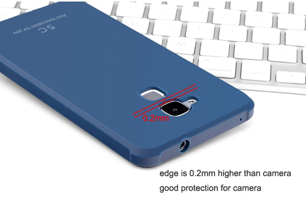 MLLSE Slim Drop Resistance Rugged Armor Case For Huawei Honor 5C 6X 5X 9 8 V8 V10 Silicon Rubber 3D Curved Dragon Rubber Cover