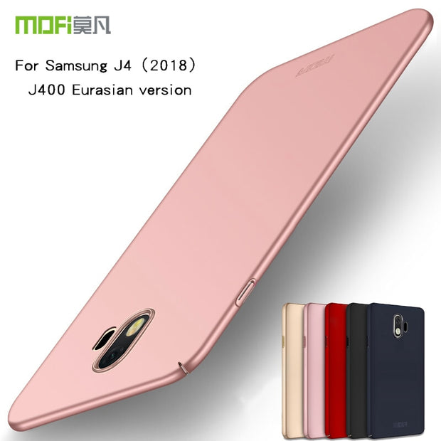 MOFI Case For Samsung J4 2018 Cover High Quality Hard Case For Samsung Galaxy J4 2018 J400 J400F Cover Phone Shell Ultra Thin