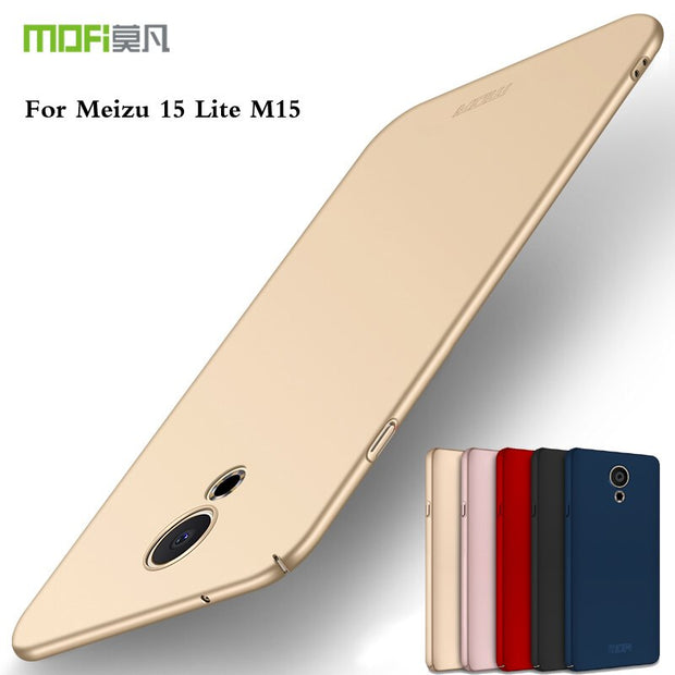MOFI Mobie Phone Case For Meizu M15 Cover Hard Case For Meizu M15 Cover Phone Shell Ultra Thin Case Back Cover For Meizu M15