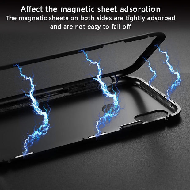 Magnetic Adsorption Case For Huawei Honor 8x 10 P20 Lite Pro P 20 Honor X8 8 X P20lite P20pro Case Luxury Magnet Tempered Glass