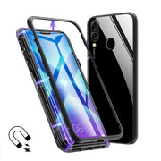 Magnetic Adsorption Metal Case For Huawei Honor 8X 8x Max Luxury Tempered Glass Cover For Huawei Y9 2019