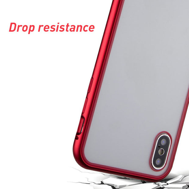 Magnetic Phone Case For IPhone X XS Max Anti-knock Metal Glass Case For IPhone XR X XS Magnetic Back Cases Adsorption Cover