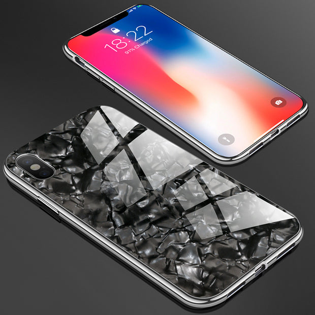 Magneto Magnetic Adsorption Metal Case For Iphone X 7 8 6 6S Case Plus Tempered Glass Cover For Iphone Xs MAX XR Phone Case
