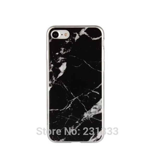 Marble Granite Rock Stone Soft TPU Case For Iphone 8 7 7Plus 6 Plus 6S I6 Capa Smooth Cell Phone Cover Skin Back Fashion 100pcs