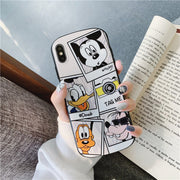Mickey Mouse Donald Duck Cartoon Oval Phone Case For Coque Iphone 7 8 6s Plus Luxury Back Silicone Case For Iphone Cover X XR XS
