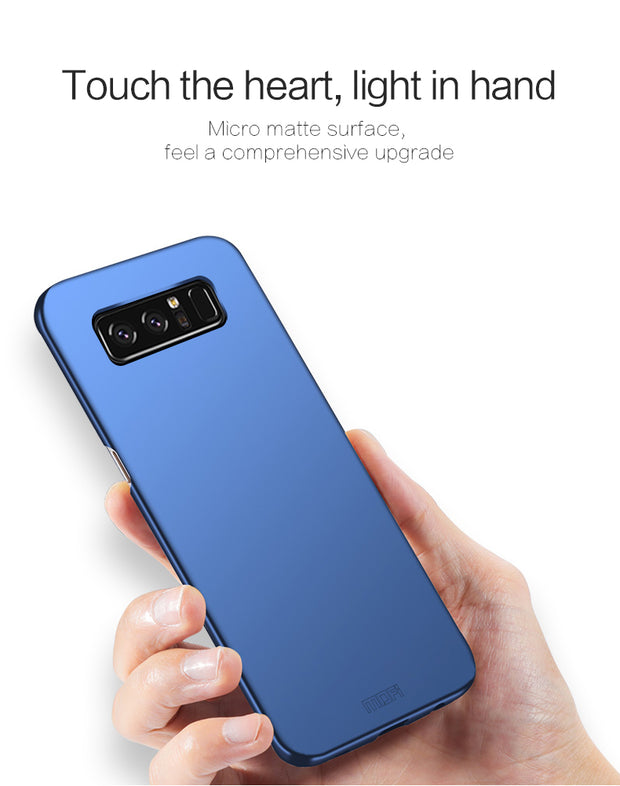 Mofi Brand Phone Case For Samsung Galaxy Note 8 Case Note8 Cover PC Hard Back Case Black Capa Coque For SM-N950F SM-N9500