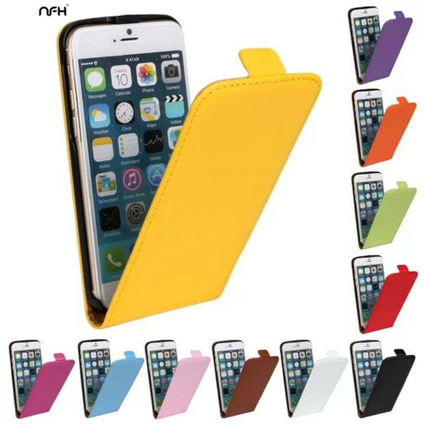 NFH Book Cover On For IPhone 5 5S SE Flip Vertical Retro Phone Case For IPhone On 5 5S Housing Protective Bumper Coque Leather