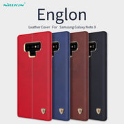 NILLKIN Englon Leather Cover For Samsung Galaxy Note 9 Slim Retro Business Leather Back Cover Phone Case For Samsung Note 9