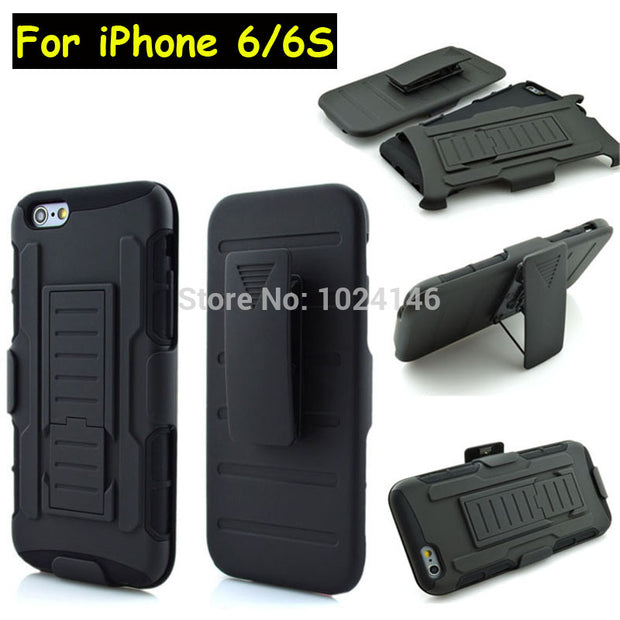 New Future Armor Heavy Duty Rugged Belt Clip Defender Stand Case For Apple IPhone 6 6S 4.7 Inch With Kickstand Cover