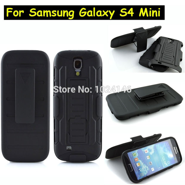 "New Future Armor Heavy Duty Rugged Belt Clip Defender Stand Case For Samsung Galaxy S4 Mini I9190 4.3"" With Kickstand Cover"