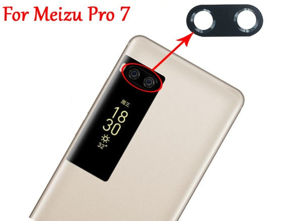 New Original Rear Back Camera Glass Lens Cover+Adhesive Tape For Meizu Pro 7 Pro7 Plus Pro7Plus Fast Shipping