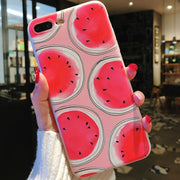 New Summer Fruit Lemon Watermelon Pattern Cell Phone Case For IPhone 8 X 6S 7 6 PlusTransparent Silicone Phone Back Cover