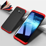 New Mobile Phone Case For Samsung S8 S9 S7 S6case Three-stage All-inclusive Matte For Samsung Note 8 9 Hard Cover Accessories