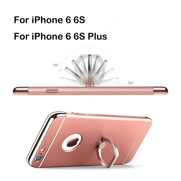 Newest For IPhone 6/ 6S Case 3 In 1 Ultra Thin Luxury Removeable Hard Back Cover For IPhone 6/6S Plus Case Full Body 360 Protect