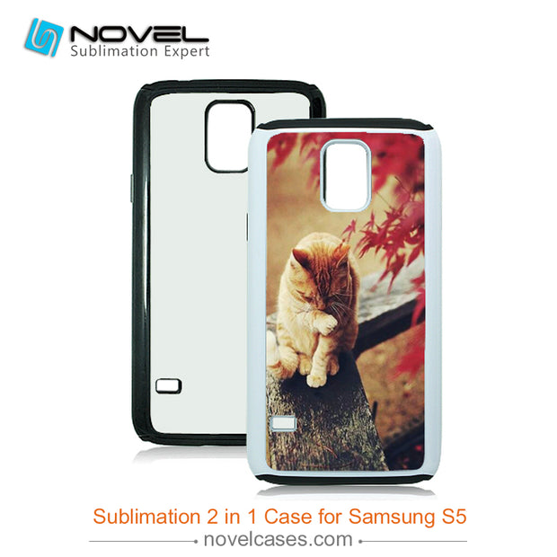 Newest Sublimation Soft TPU And Hard PC 2in1 Phone Case For Samsung S5