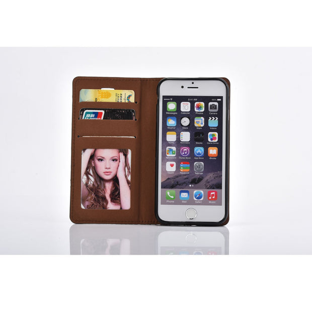 Nicexx Leather Case For IPhone 6 I6 6S 4.7 Inch Phone Bag Cover 3 Site Stand Card Slot