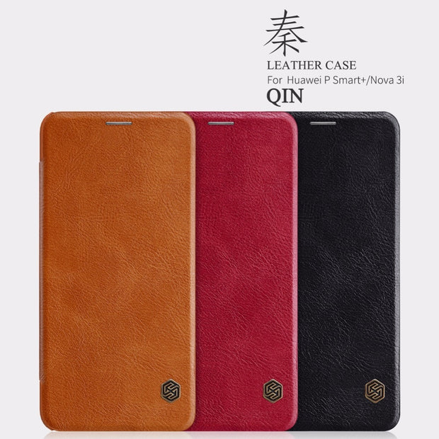 Nillkin Qin Luxury Wallet Pouch For Huawei Nova 3i Leather Flip Cover Case For Huawei P Smart Plus + INE-LX1 INE-LX2 Case 6.3""