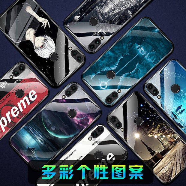 Noctilucence Toughe Glass Phone Case For For Huawei Y 7x Y 8C 8xmax 8x Y 9i I Y 10